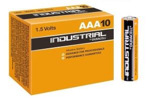 Duracell AAA Industrial Batteries 1.5v LR03 MN2400 (Box of 10)