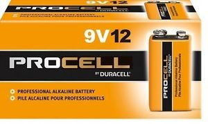 Procell PP3 9 volt Batteries